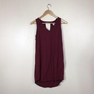 Old Navy Maroon Tank V-neck Shift Dress